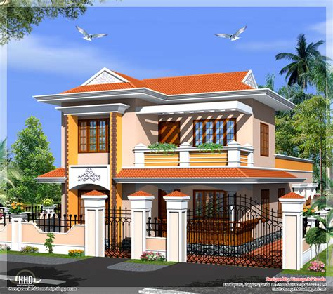 kerala model villa in 2110 in square house design plans