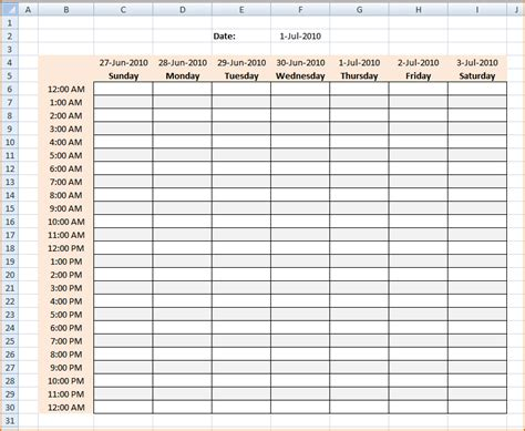 schedule maker excel template week schedule maker