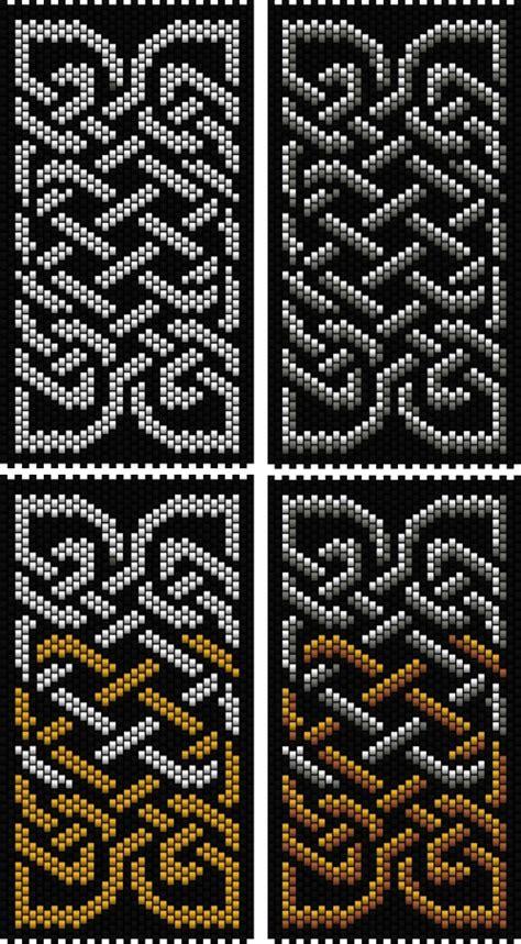 Knot Pattern - celtic knot 4 peyote stitch bead patterns