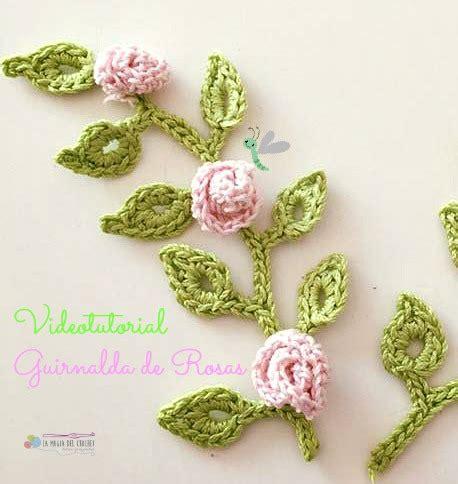 imagenes de flores tejidas a gancho la magia del crochet guirnalda de rosas a crochet
