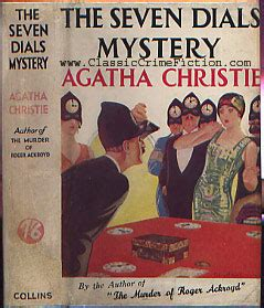 the seven dials mystery agatha christie the seven dials mystery first edition