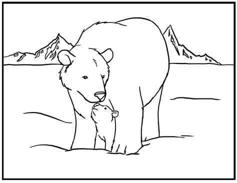 bears of color free printable coloring pages for
