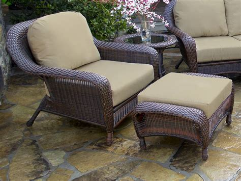 outdoor wicker chairs with ottomans tortuga lexington club chair ottoman lex co1