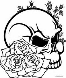 skull coloring sheets paper skulls and roses coloring pages to print