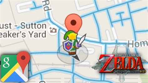 google images zelda legend of zelda hero pops up in google street view today