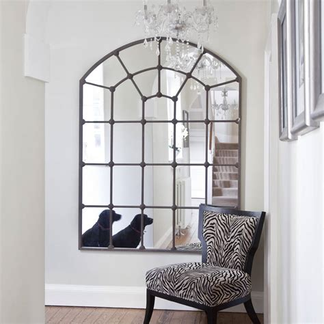 Window Mirrors Decorative by Large Metal Framed Window Mirror By Decorative Mirrors