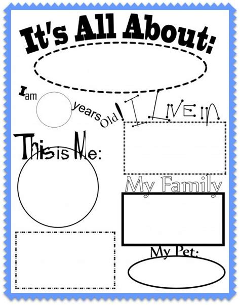 kindergarten activities myself all about me worksheet and song for kids from kiboomu