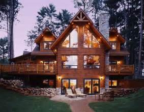 Acadian Floor Plans custom built log home tour strongwood log homes