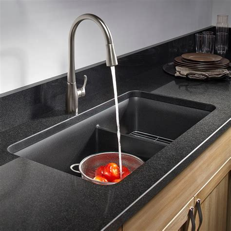 Kitchen Sink Rack Kohler K 8204 Cm1 Cairn Undermount Bowl Kitchen Sink With Basin Rack Large Medium Matte