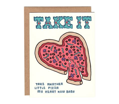 pizza valentines card template take another pizza my card