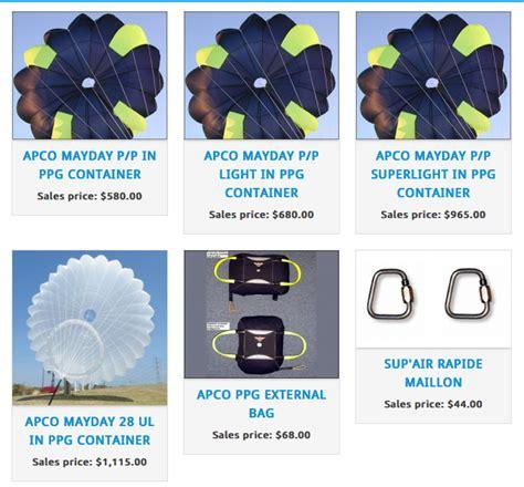 Apco Reserve Parashut Cadangan Tandem southern oregon paramotor paragliding sales