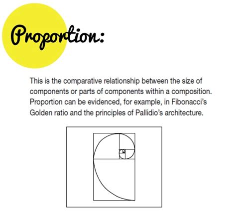 layout elements definition definition of proportion composition golden ratio