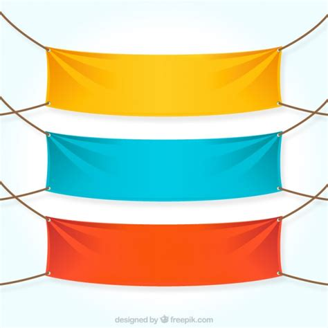 colorful textile banners vector