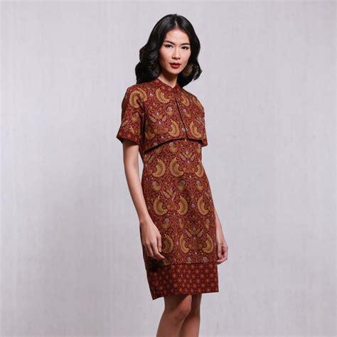 desain baju dress simple model baju batik keris wanita modern terbaru busana