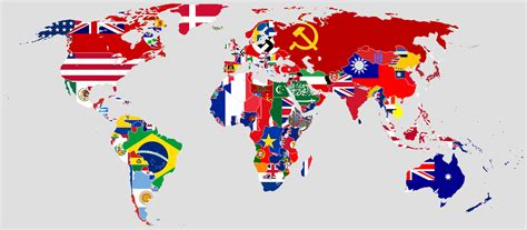 all flags map file flag map of the world 1942 jpg