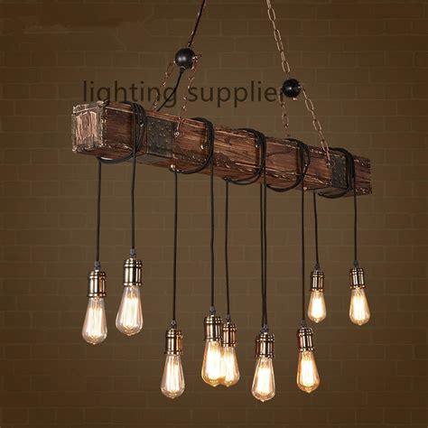 loft style creative wooden droplight edison vintage