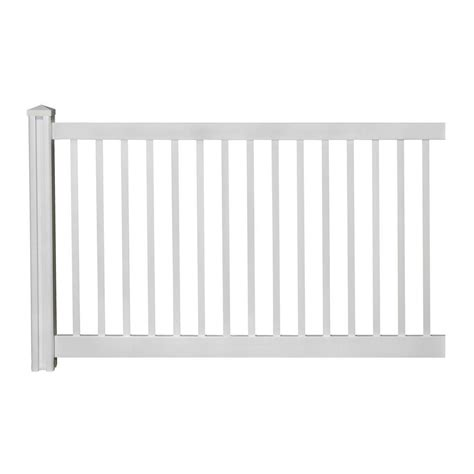wambam fence 4 ft h x 7 ft w premium vinyl yard and pool