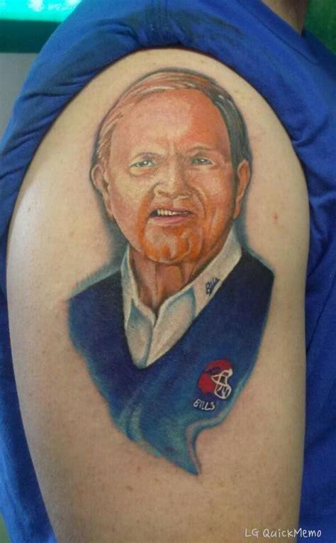 christian hackenberg tattoo buffalo bills fan gets ralph wilson tattoo photo