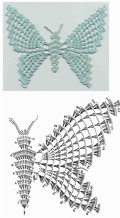 esquema de mariposas para polera crochet patrones mariposas crochet imagui
