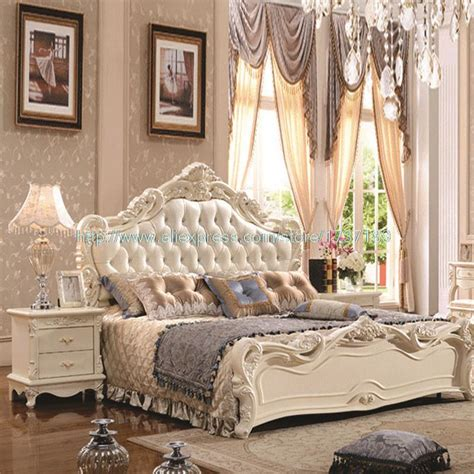 white princess bed french leather luxury double bed 1 8 m marriage white bed special offer new princess