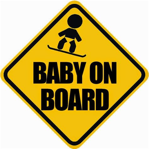 Baby On Board Sticker by Crap Snowboarding Bumper Stickers Of The Week Baby On