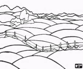 Natural Landscapes Coloring Pages Printable Games sketch template