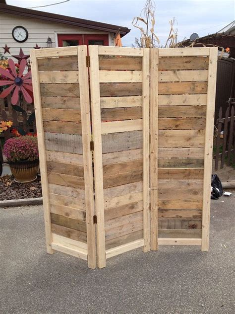 Pallet Room Divider Handmade Primitive Room Divider Movable Wall Screen Made From Antique Looking Wood 5 10