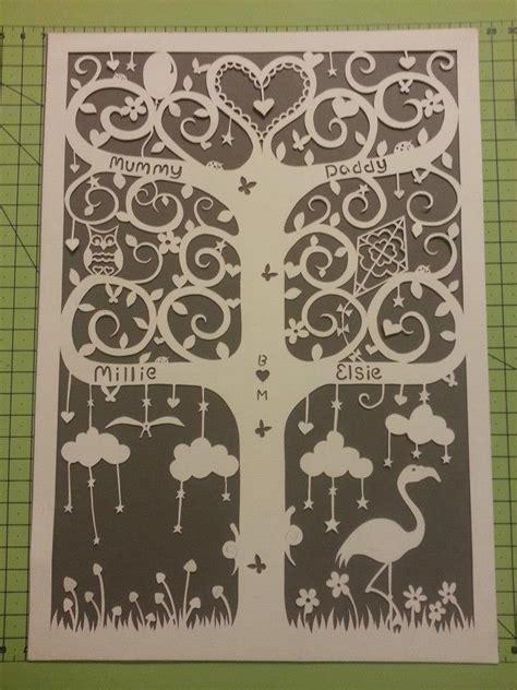 paper cut family tree template treefrog trinkets paper cut family tree guild of keepsake
