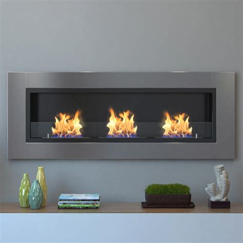 Fireplace Biofuel by Moda Devant 53 In Recessed Wall Mounted Ethanol