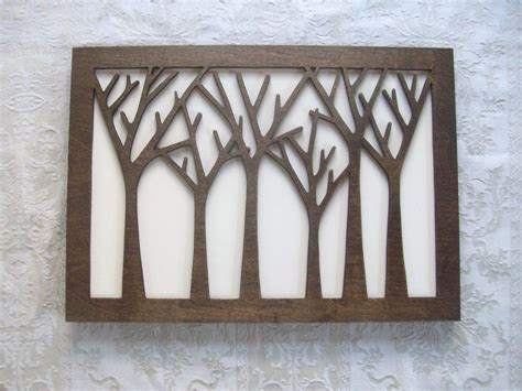 wooden wall decor items similar to tree forest wood wall decor art on etsy