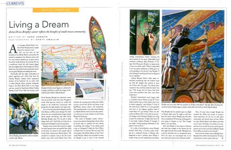 layout features of a magazine living a dream grand strand magazine article drew