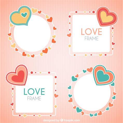 cornici a cuore per foto foto cornici decorative con il cuore scaricare vettori