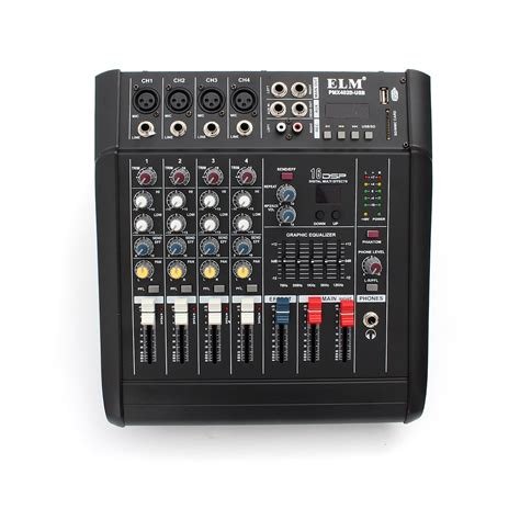 Mixer Power pmx402d usb 4 channel professional powered dj mixer power