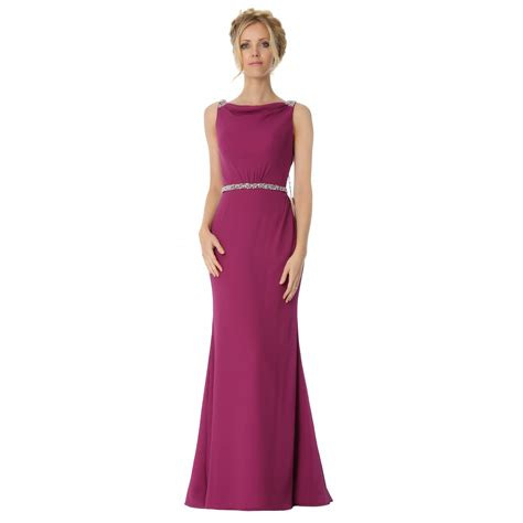 boat neck dress formal sexyher boat neck whit beading trumpet mermaid bridesmaids