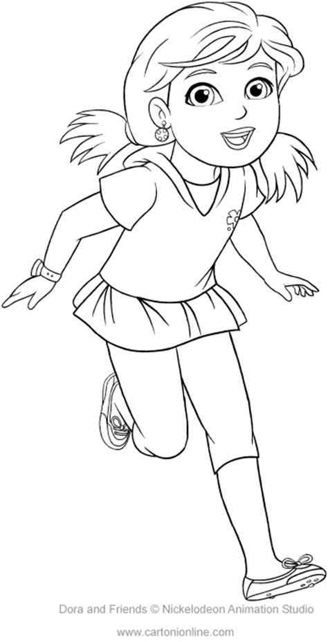 coloring pages of dora and friends alana of dora and friends coloring pages
