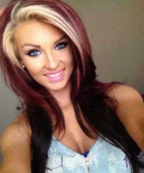 two tone hair color ideas best 25 two toned hair ideas only on