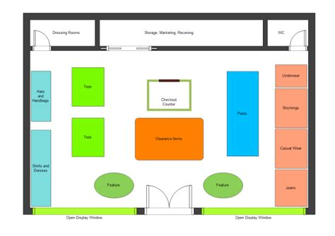 clothing store floor plan clothing store plan free clothing store plan templates