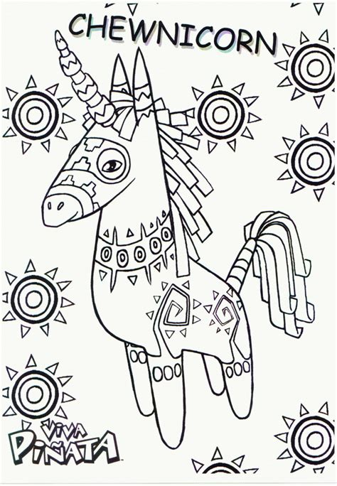 viva pinata coloring pages coloringpages1001 com