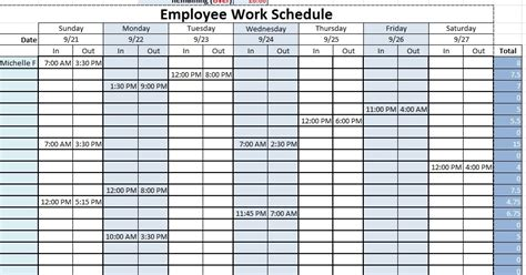 how to use a monthly schedule in microsoft excel using ms excel