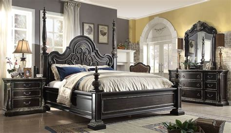 4 piece bedroom set 4 piece mcferran b5189 florence poster bedroom set