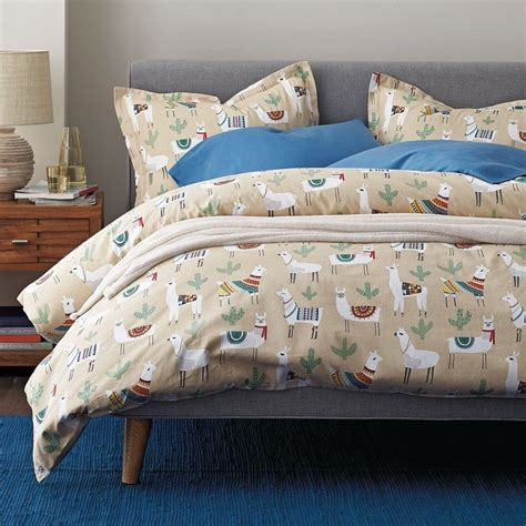 shop bedding llama land 5 oz flannel sheets bedding set the