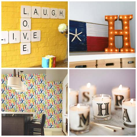 lifestyle cafe alphabet letters for unusual home decor as easy as abc 7 ways to use alphabet letters in your