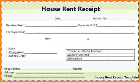 Rent Receipt Template India by Monthly Rent Receipt Kinoroom Club