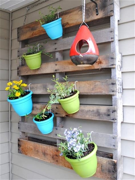 vertical gardening out of recycle pallets pallet
