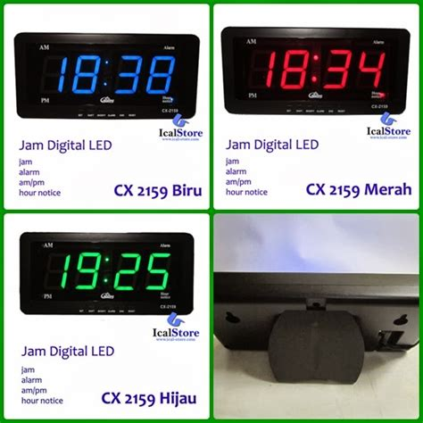 Jam Led Digital Di Untuk Meja Tipe Jh 828 Warna Hijau jam dinding digital led caixing jam digital led caixing
