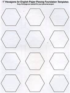 Hexagon Templates For Paper Piecing by Paper Piecing Hexagons By S