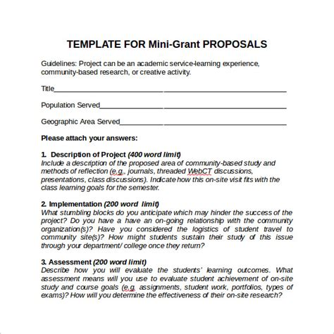 sle funding proposal template writing format of a