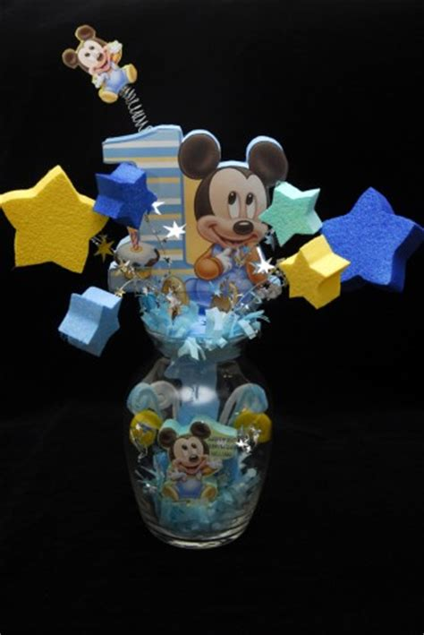 baby mickey centerpiece baby mickey mouse 1st birthday glass vase centerpiece