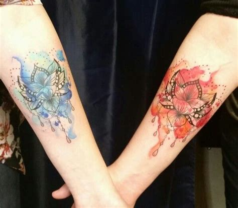 watercolor tattoos pennsylvania my and my s watercolor lotus tattoos done by