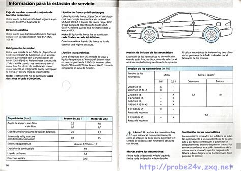 car repair manual download 1995 ford probe spare parts catalogs service manual electric and cars manual 1995 ford probe parental controls ev motors electric